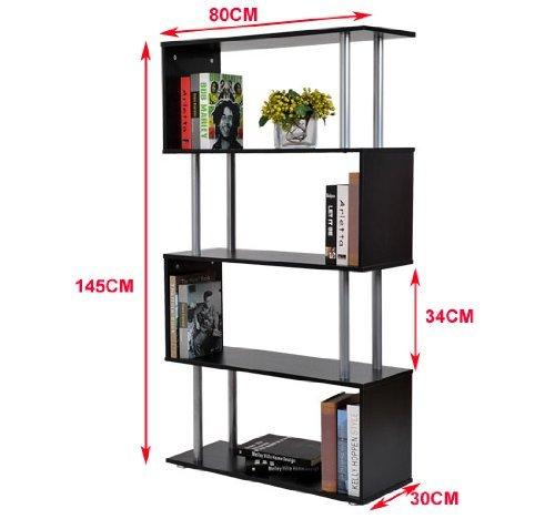 4 levels display stand shelf firm metal frame