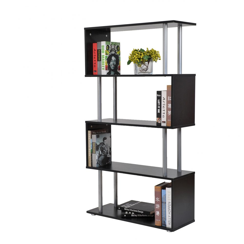 s-shaped-4-shelf-bookshelfblack