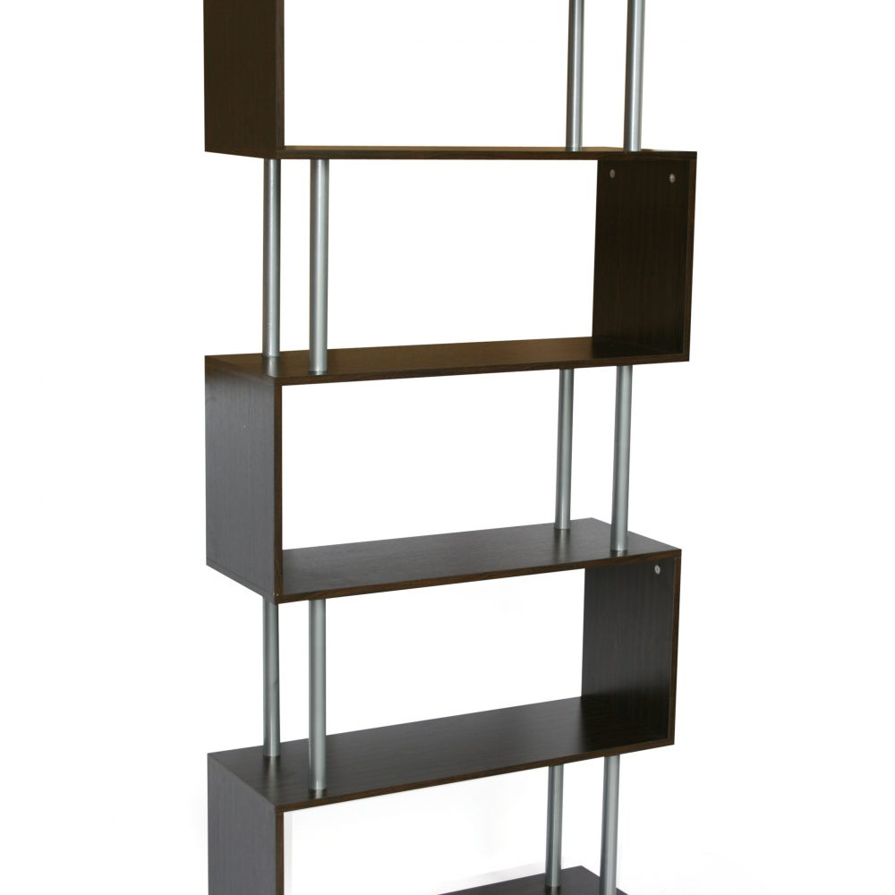 s-shaped-5-shelf-bookshelfblack
