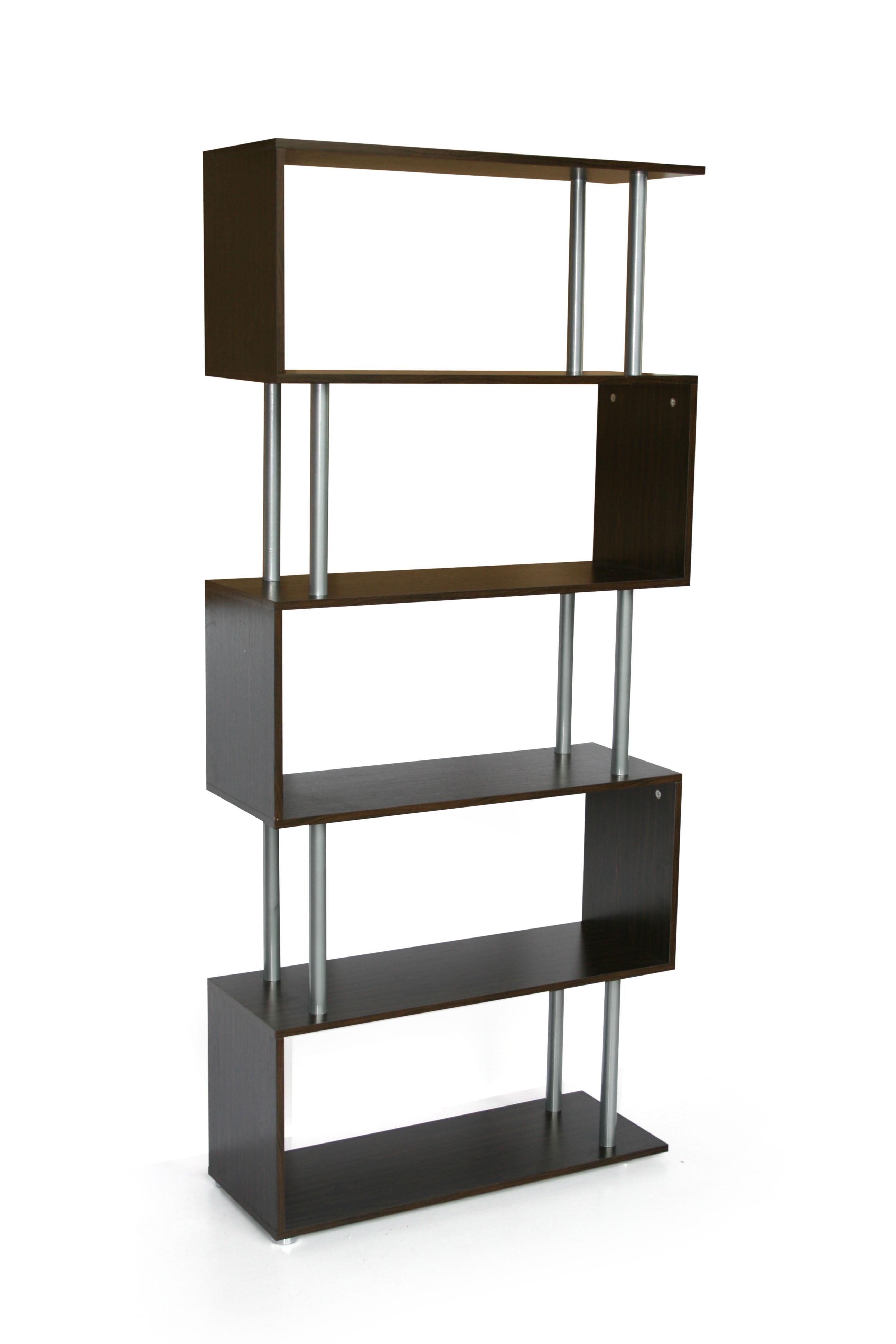 s-shaped-5-shelf-bookshelfblack
