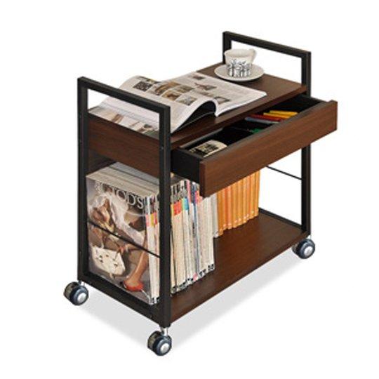 mobile-trolley-rackblack-walnut